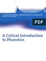 Critical Introduction to Phonetics