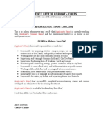 5 Reference Letter Format - Chefs