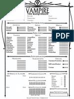 Vampire V20-Playtest 1-Page Editable