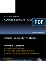 Common SQL Server Security Mistakes