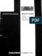 FDK Multi-2700 Instruction Manual