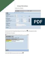 Printing TDS Certificates