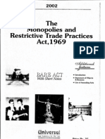 The Monopolies and Restrictive Trade Practices Act 1969