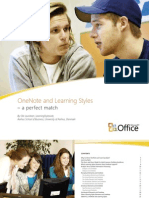 OneNote and Learning Styles Pamphlet