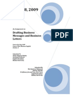 Drafting Business Messages and Business Letters