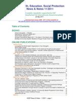 Health, Education, Social Protection News & Notes 11/2011