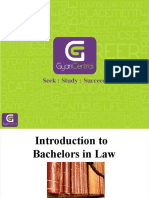 Introduction to Bachelors in Law