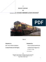 Railway Ticket Reservation by Vinay Madhukar(Cs-b,4th Sem 2011),JNIT College