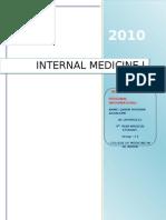 Internal Medicine (i) Log Book Black Color Typing
