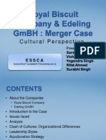 Royal Biscuit Company & Edeling GmBH - Merger Case - Cultural Perspective