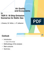 NOx Impact on Air Quality, Human Health and Ecosystems in TIER II III Ship Emission Scenarios for Baltic Sea