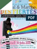 Programme Lesbian Gay Pride Toulouse 2011