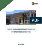 Plan de manejo de residuos peligrosos universidad de concepción