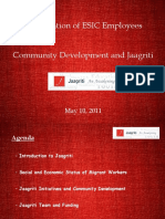 Community Development_Jaagriti & ESIC