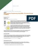 MIDP Database Programming