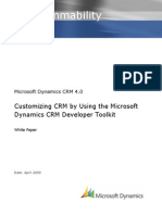 Customizing CRM by Using the Microsoft Dynamics CRM Developer Toolkit