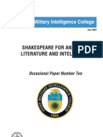 Jmic Shakespeare for Analysts