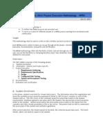 SBTS - Mini Project Execution Methodology