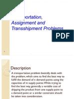 Tranportation and Transshipment Problem Ppt