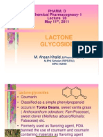 Lecture 28 - Lactone Glycosides