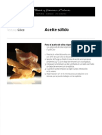 Ferran Adria Aceite Solido