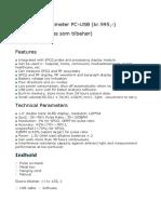 Finger Pulse Oximeter 50D + Softwarwe