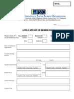 IFSSO Membership Form