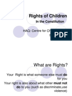 Child Rights in the Constitution of India
