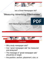 What Makes a Great Newspaper Ad