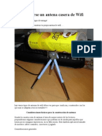 Como Crearse Un Antena Casera de Wifi