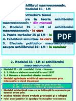 Cap. 8. Echilibrul Macr. Modelul is - LM