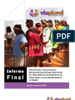 Informe Comunidad Embera Desplazada en Bogotá