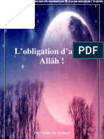 L Obligation d Aimer Allah