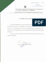 Adresa PNC Nr. 707 Din 04.05.2011 Schimbare Ora Si Data Desfasurare Concurs Municipal a Pentru Gradinite