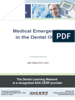Medical Emergencies in Dental Office