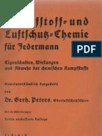 Kampfstoff = und Luftschutz= Chemie für Jedermann - Gerhard Peters - dritte Auflage 1940