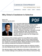 Why China's Crackdown is Selective - Carnegie Endowment for International Peace