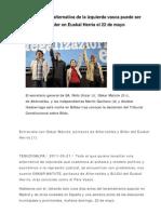 110521 BILDU, La Nueva Alternativa de La Izquierda Vasca Puede Ser Alternativa de Poder en Euskal Herria El 22 de Mayo