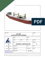 20K DWT Bulk Carrier Tech Spec