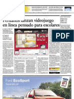 Peruanos lanzan Videojuego en línea pensado para escolares