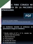 Anestesia Para Cirugia No Obstetric A en La Paciente