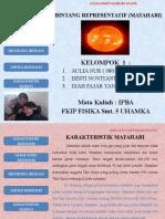 BINTANG REPRESENTATIF (MATAHARI) 1