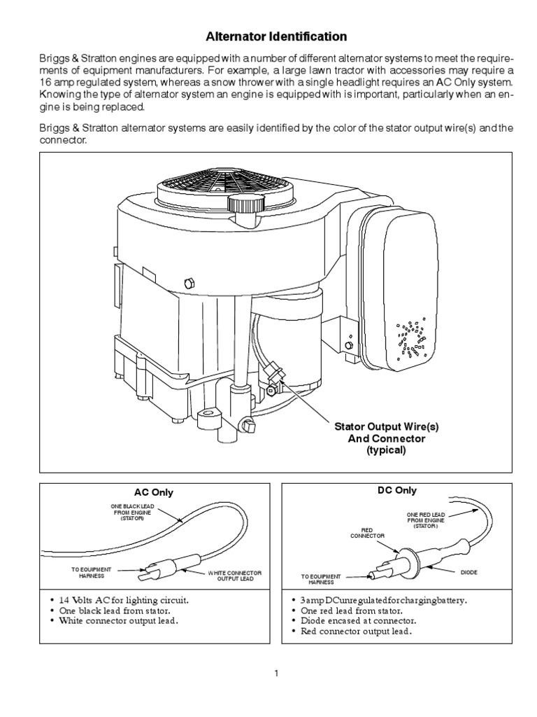 Brigg  U0026 Stratton Vanguard 16 Hp Basic Wiring Diagram