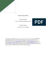 Growth in a Time of Debt - Reinhart - Rogoff