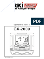 GX-2009 - Personal Multigas Detector. Operator's Manual [RKI, 2009]