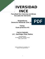 Guia Practica#1, Derecho Notarial, Der