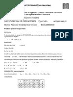 A Ejercicio 1 Metodo Simplex