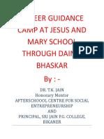 Career Guidance Camp at Jesus and Marry School Through Dainik Bhaskar Bikaner