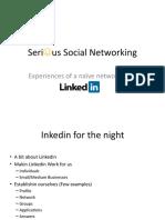 Using Linkedin Effectively - Presentation at Pinkcow May17