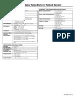 Speedometer Speed Sensor Specification